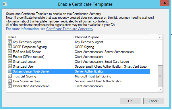 Microsoft active directory certificate service microsoft intune at this time the newly created templates are published you could test this templates via iis to request a web server certificate yadclub Gallery