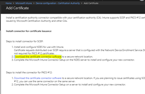 Configure Microsoft Intune – Certificates – Part 7: NDES and Intune